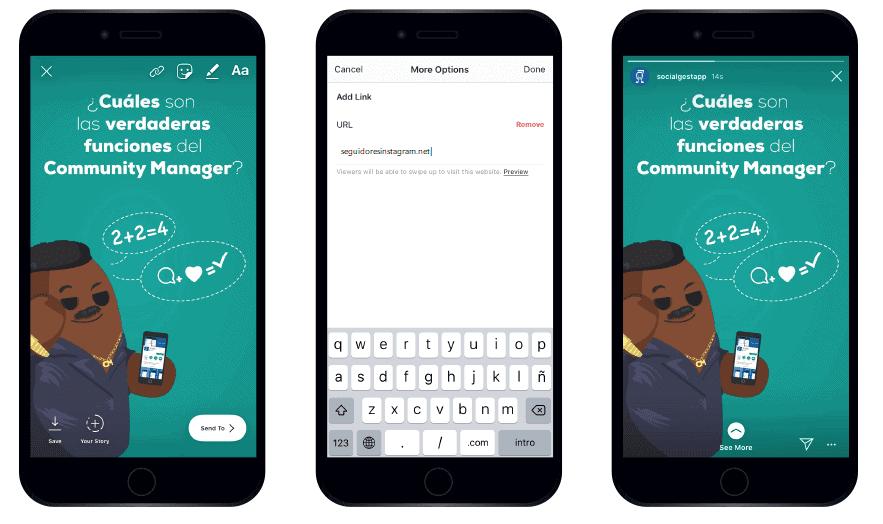 Cómo configurar el swipe up en Instagram
